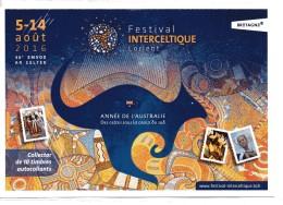 COLLECTOR FESTIVAL INTERCELTIQUE  DE LORIENT 10 TIMBRES FRANCE NEUFS VERTS - France