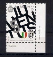 San Marino (2016) Calcio/football: Juventus Campione Serie A 2015/16 - Single Stamp With Labels [as Scan] - Calcio