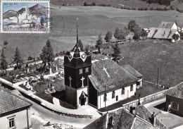 25-OYE-ET-PALLET- VUE DU CIEL L'EGLISE - Autres Communes