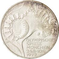 République Fédérale Allemande, 10 Mark, 1972, Karlsruhe, Argent, KM:133 - [10] Commémoratives