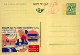 Carte Postale Neuve PUBLIBEL 2529F PATRONS PLOMBIERS à CHARLEROI - Avec Valeur Complémentaire à La Machine - Enteros Postales