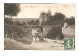 CPA 78 VERNOUILLET Pont Du Chemin De Fer Attelage Maison - Vernouillet