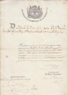 "E753 CUBA SPAIN ESPAÑA. MILITAR DOC ""REGIMIENTO DE INFANTERIA DE LA UNION""1848 - Historische Documenten"