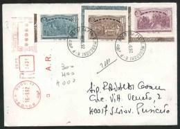 1992 Italia, Raccomandata Affrancata Con Valori Da Foglietti Colombo - 1946-.. République