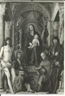 """Bologna (Emilia Romagna) Basilica Di San Petronio, Cappella Di San Giacomo """"Madonna E Santi"""" Di Lorenzo Costa - Bologna"""
