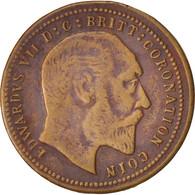 Grande-Bretagne, Token, Edward VII Coronation, XIX Century, TTB, Cuivre, 22 - United Kingdom