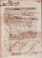 E764 CUBA ESPAÑA SPAIN. SHIP EMBARK POLIZA SANTANDER TO HABANA 1847 - Historical Documents