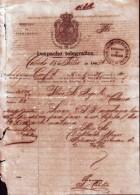 "E767 CUBA  ESPAÑA SPAIN TELEGRAM ""ESTACION CAÑEDO"" MARK 1862. TELEGRAMA TELEGRAFO"