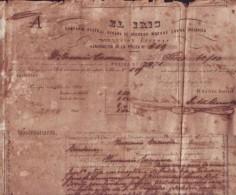 "E768 CUBA INSURANCE POLIZA ""EL IRIS"" FOR FIRE 1860 ESPAÑA SPAIN. POLIZA DE SEGUROS CONTRA INCENDIOS - Shareholdings"
