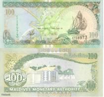 (B0081) MALDIVES, 2000. 100 Rufiyaa. P-22b. UNC - Maldives
