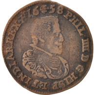 Belgique, Token, Philippe IV, Bruxelles, 1658, TTB, Cuivre, 30 - Other