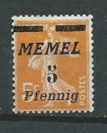 Allemagne - Memel - 1922- Michel 52 - Neuf * - Klaipeda