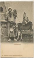 Montreur De Singe Grimpé Sur Un Ane Dompteur Arabe Egypte Tamed Monkey On A Donkey Egypt - Singes
