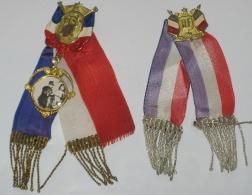 Lot De 2 Insignes Patriotiques De Conscrit, Entre WW1 Et WW2 - 1914-18