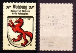 Reklamemarke Vohburg Deutsche Ortswappen - Vignetten (Erinnophilie)
