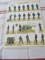 PRO PATRIA  - SOLDATS à DECOUPER, ARTILLERIE ARMEE FRANCAISE, PLANCHE N°2 SOLDATS IMPRIMES RECTO-VERSO HD.H.BOUQUET - 1914-18