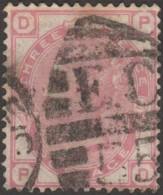 GB 1881 Y&T 63 SG 158 Michel 60. Victoria 3 P. Rose, Filigrane Couronne. Planche 21. Lettres DP - 1840-1901 (Viktoria)