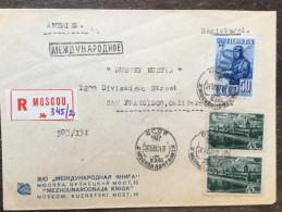A5 Russia Russie USSR URSS 1950 R-Brief Von Moskau Nach San Francisco Pilot Kreml