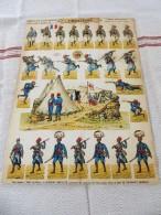 PRO PATRIA  - SOLDATS à DECOUPER, TIRAILLEURS, ARMEE FRANCAISE, PLANCHE N°18, SOLDATS IMPRIMES RECTO-VERSO,HD.H. BOUQUET - 1914-18