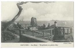 CAP D'AIL (Alpes Maritimes,06) Les Rocs - Torpilleurs En Pleine Mer - Animée - Photo J. Bador - Cap-d'Ail