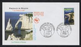 FRANCE FDC Premier Jour 17.09.2005 Portrait De Région Les Falaises D'Etretat N° YT 3815- 76 Etretat La A Voir - FDC