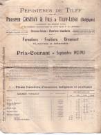 Kataloog Catalogue Prijslijst - Pépinières Boomkwekerijen De Tilff - Prosper Crahay & Fils - Tilff Liège 1912 - 1913 - Vieux Papiers