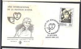 ARGENTINA 1974  AÑO INTERNACIONAL DE LA FILATELIA JUVENIL - FDC