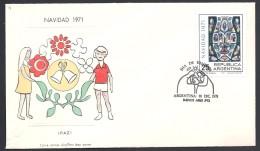 ARGENTINA   1971 NAVIDAD  CHIRSTMAS - FDC