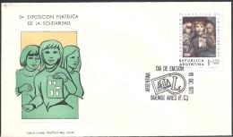 ARGENTINA   1971 2DA EXPOSICION FILATELICA DE LA SOLIDARIDAD - FDC