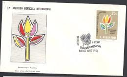 ARGENTINA   1971 3° EXPO. HORTICOLA INTERNACIONAL - FDC