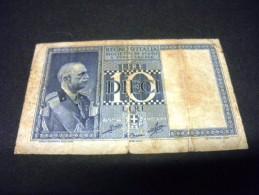 ITALIE 10 Lires 1939 ,pick KM N° 25 C , ITALY - Regno D'Italia – 10 Lire