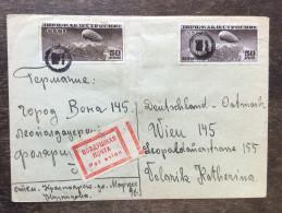 A5 Russia Russie USSR URSS Luftpostbrief Von Krasnoyarsk Nach Wien Zeppelin - 1923-1991 USSR