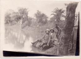 Foto  Photo - Kongo Congo Missies Missions Afrique  -  Missionarissen Op Vlot - Africa