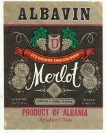 "Albania, ""Merlot"", Wine Label. - Rotwein"