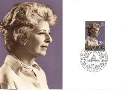 LIECHTENSTEIN  Carte Maxi  1983  Princesse Gina - Familles Royales
