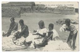 SOUDAN (Afrique Occidentale) - Travail Du Coton Indigène - Le Cardage - Beau Gros Plan Animé - Sudan