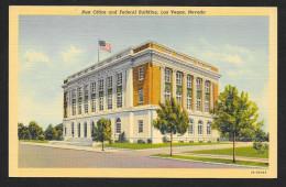 Post Office & Federal Building Las Vegas Nevada Unused C1937 STK#93896 - Postal Services