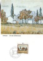 LIECHTENSTEIN  Carte Maxi  1983  Tableaux Paysage Anton Ender Schaan - Ohne Zuordnung