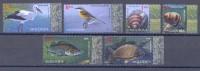 2014. Moldova, Fauna Of Moldova, Birds,snails,fishes, 6v, Mint/**