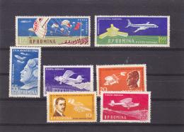 #139   AVIATION DAY, PLANES, PILOTS, 7X STAMPS, Mi.1861/67,     1960, MNH**, ROMANIA. - 1948-.... Républiques