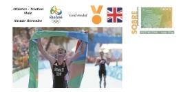 Spain 2016 - Olympic Games Rio 2016 - Gold Medal Athletics Triatlon Male Great Britain Cover - Juegos Olímpicos