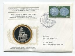 """Monaco Médaille Argent 1976 """" Association Internationale Des Receveurs De La Poste """" # 1 - 1960-2001 Nouveaux Francs"""
