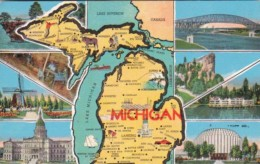 Map Of Michigan With Multi View - Maps