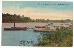 U.S.A. - SCENE ON MERRIMAC RIVER - LAWRENCE - MASS. EDIT E. SWITH - 1916 - Lawrence