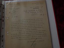Facture Document  Lettre   Soieries Et Tissus De Lyon ALGOUD Cie 3 Rue Du Griffon Lyon - Textile & Clothing