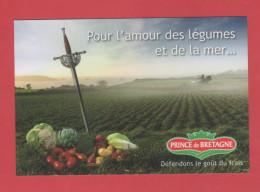 ET/64   POUR L AMOUR DES LEGUMES ET DE LA MER PRINCE DE BRETAGNE // Artichaut  Chou-fleur Tomate  RECTO VERSO - Publicité