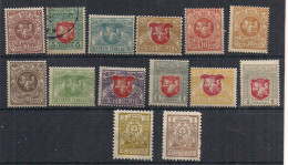Lithuania Srodkowa Litwa 1920ies Small Lot , Mi , Unused Hinged And Used - Lithuania