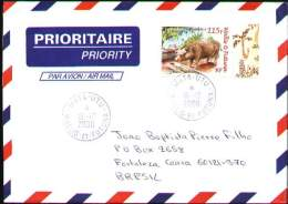 Wallis Et Futuna 2008. Priority Cover From Mata-Utu To Fortaleza - CE - Brasil. Fauna: Le Cochon (pig) - Wallis Y Futuna