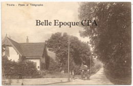 Suisse - NE - THIELLE - Poste Et Télégraphe ++++++ J. Dey, Thielle ++++ RARE / DILIGENCE - NE Neuchâtel