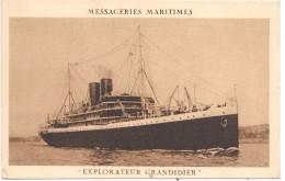 MESSAGERIES MARITIMES - EXPLORATEUR GRANDIDIER - Paquebots